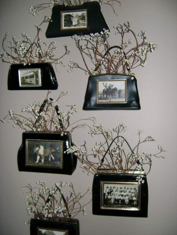 Рамки для фото из сумочек (DIY)
