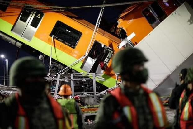 Количество госпитализированных после обрушения метромоста в Мехико возросло до 79
