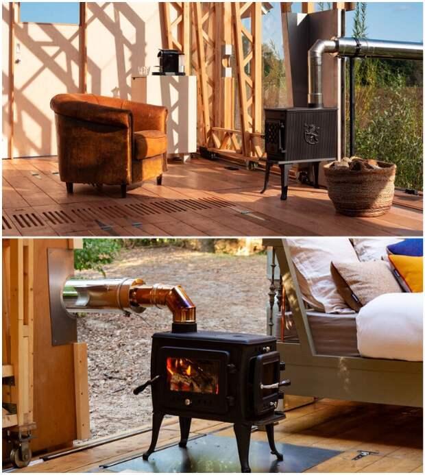 Все домики модельного ряда ANNA оснащены дровяными печками.