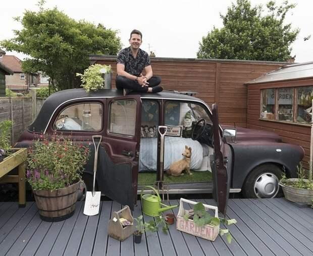 Спальня на колесах Ли Коннелли некогда была лондонским такси Лучший сарай года, идея, конкурс, сарай, строитель, финалист, фото