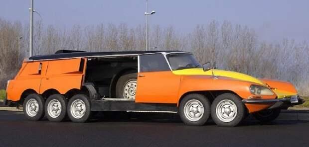Citroën DS PLR Michelin — монстр-сороконожка Citroën DS PLR Michelin, авто, интересное