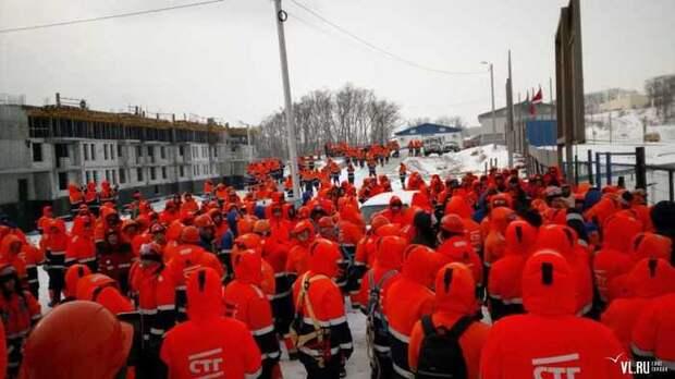 Стихийная забастовка рабочих г. Владивосток Забастовка, Владивосток, Задержка зарплаты, Стройка, Видео, Длиннопост