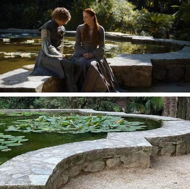 """Как выглядят локации """"Игры престолов"""" на съёмках и в жизни (20 фото)"""