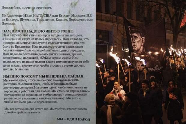 «Майдан НЕ за НАТО, США или Европу, мы не за Бандеру» 2013 г
