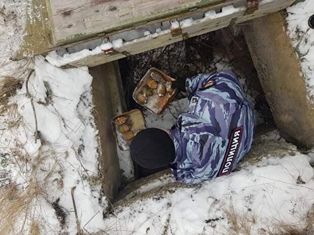 В Свердловской области ФСБ обнаружила спрятанную в тайнике взрывчатку