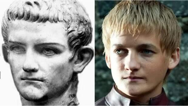 """Бюст Калигулы в детском возрасте vs Jack Gleeson as Joffrey (""""Игра престолов"""")"""