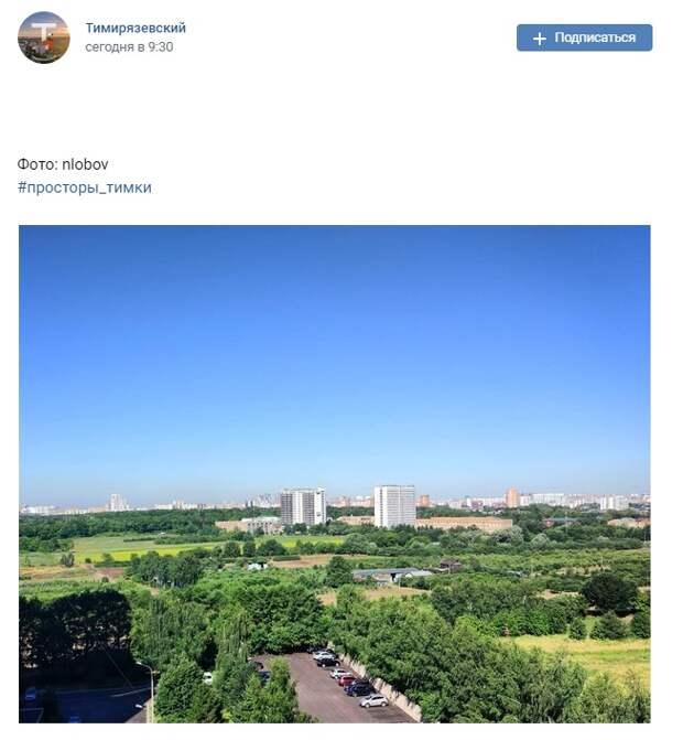 Фото дня: просторные поля Тимирязевки
