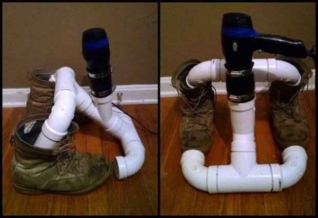 Сушилка для обуви из пластиковых труб