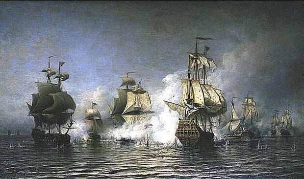 Морские баталии в картинах Алексея Петровича Боголюбова.