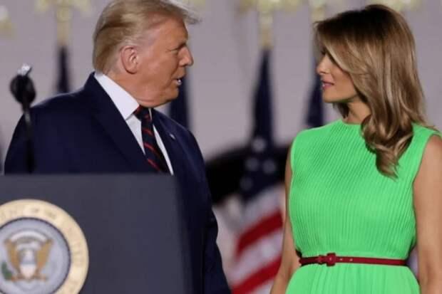 """Первая леди США Мелания Трамп пришла на собрание партии в платье цвета """"зеленого экрана"""": Пользователи сети высмеяли ее"""