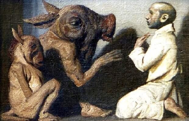 Почему известный соцреалист Гелий Коржев стал писать мутантов-тюрликов и картины на библейские мотивы