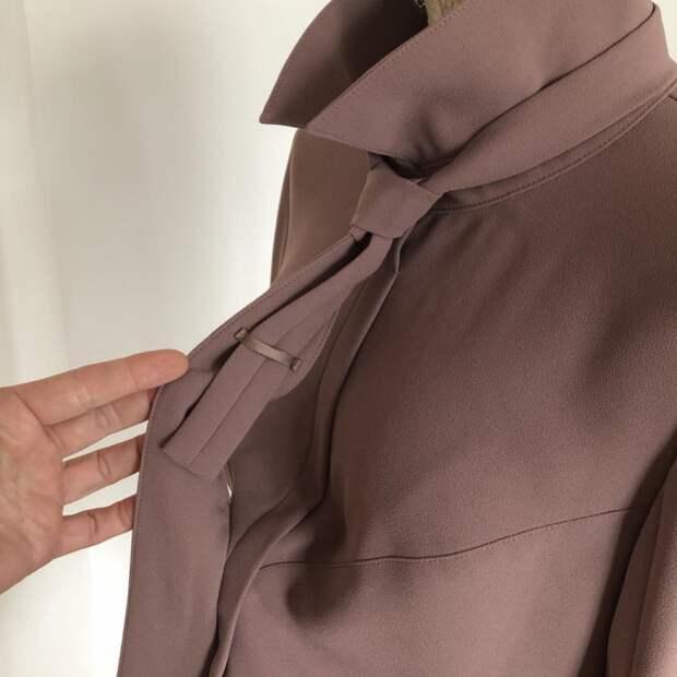 Цельнокроенный с воротничком галстук (моделирование)