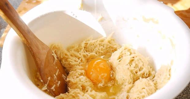 картошка с яйцом