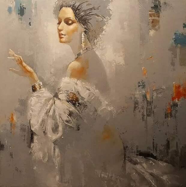 Художник Роман Гарасюта. Завораживающая музыка женской души