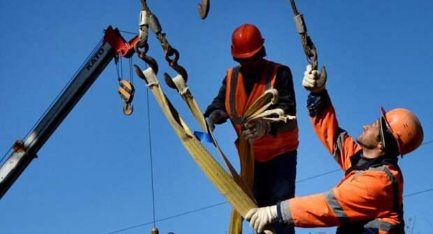 Узбекские рабочие на стройке