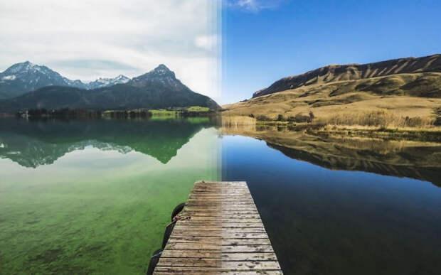 Альпы в Австрии и Драконовы горы в Южной Африке.