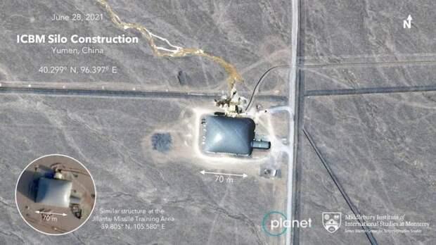 119 ракет в пустыне. Китай строит новый позиционный район ракетных войск