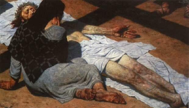 Оплакивание Христа. Автор: Гелий Коржев.