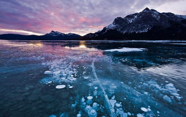 Озеро Авраама (Канада) привлекает внимание фотографов со всего мира