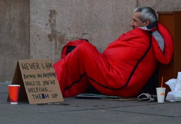 Британский бездомный признался, что «зарабатывает» 600 фунтов в день