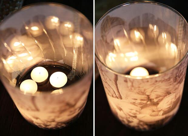 Светящиеся светильники со свечами