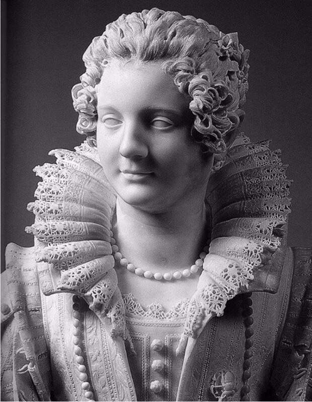 Кружева из мрамора. Giuliano Finelli. Maria Duglioli Barberini, 1626.