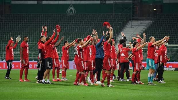 «Бавария» стала чемпионом Германии 8-й раз подряд, обыграв «Вердер» благодаря голу Левандовски
