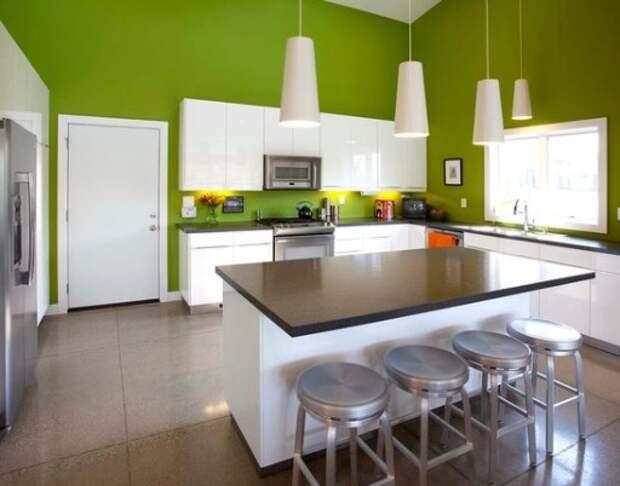 Кухня цвета лайм в Европе