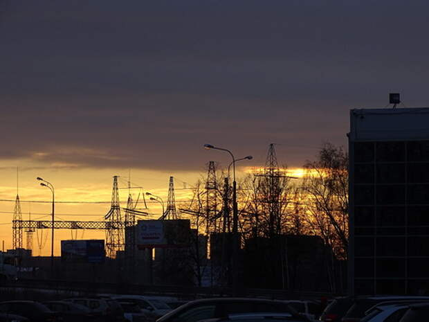 Настоящий HDRI - закат в Старой Трёхгорке, исходное фото тёмное