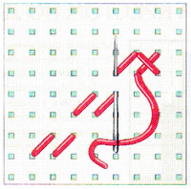 Вышивка крестиком по диагонали. Двойная диагональ слева направо (фото 8)