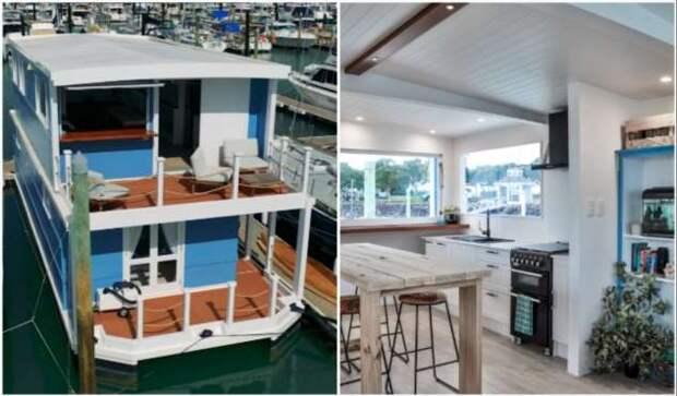 Компактный плавучий дом, позволяющий наслаждаться домашним комфортом среди моря