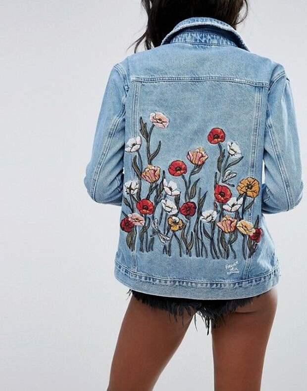 Вышитые джинсовые куртки