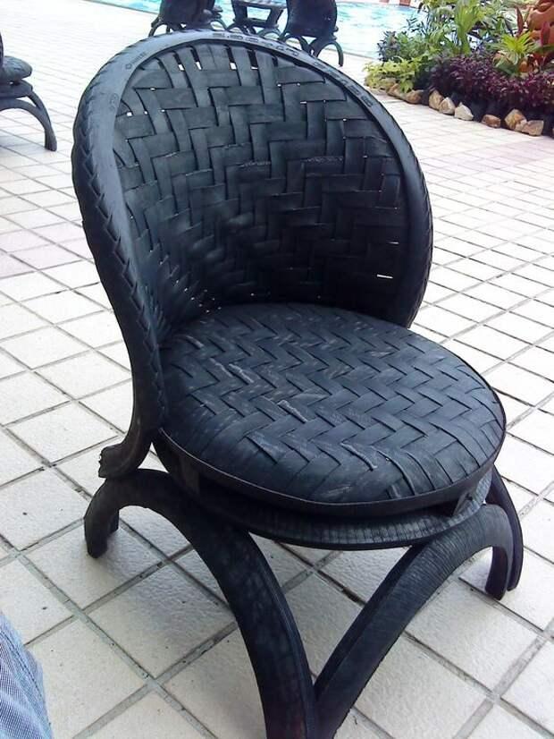 Кресла из автошин  (подборка)
