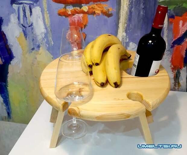 Делаем винный столик из ореха своими руками