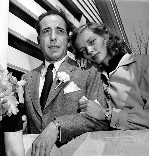 Лорен Бэколл и Хамфри Богарт.