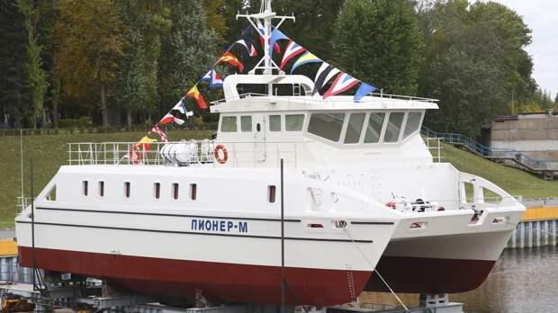 Корабль-беспилотник «Пионер-М» спустили на воду в Петербурге