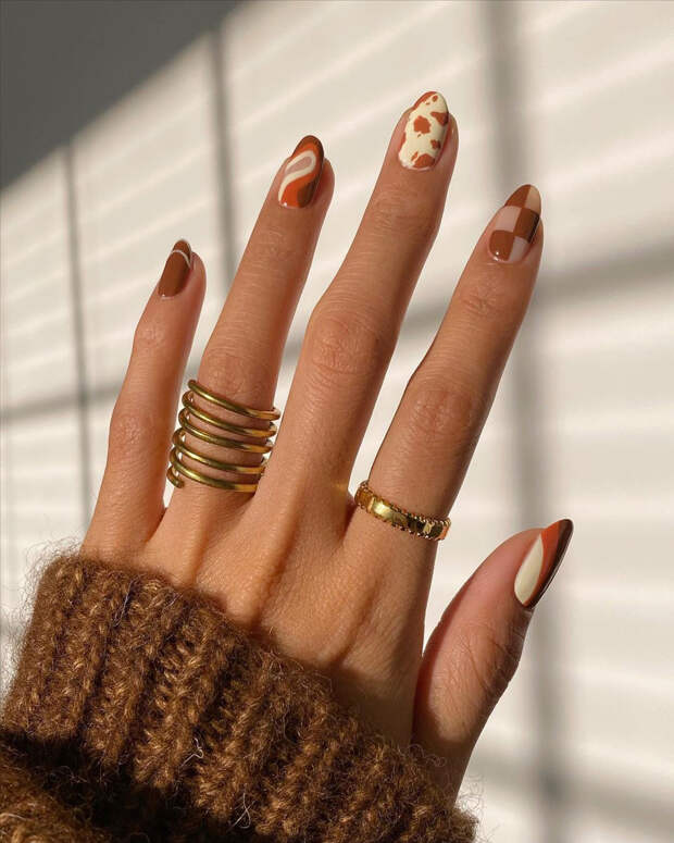 Как придумать разный дизайн для каждого ногтя— очень много идей