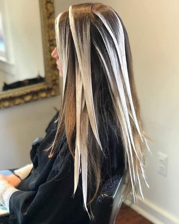 Балаяж на средние волосы: фото 5