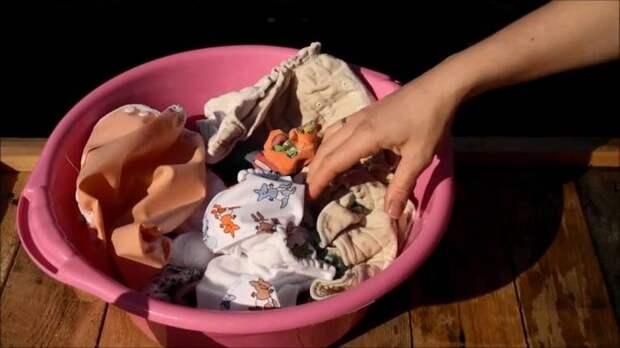 Как замачивать и стирать подгузники