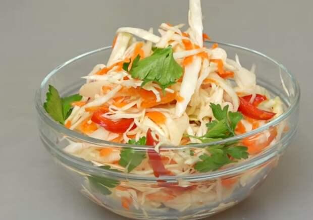 Маринованная капуста «Быстрая». Вкусный салат на каждый день