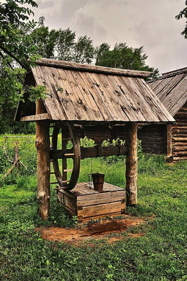 Архитектура деревенских колодцев архитектура, вода, деревня, колодец, красота, пастораль, эстетика