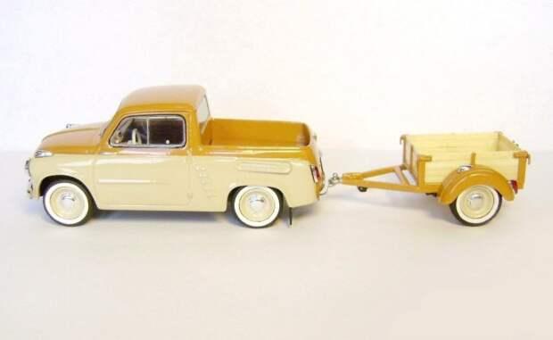 ЗАЗ-965 пикап с прицепом авто, автодизайн, газ, запорожец, моделизм, модель, москвич, советские автомобили
