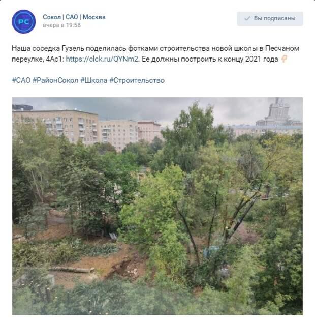 Ради строительства учебного корпуса на Песчаном рубят деревья