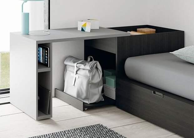 Спрятаные в интерьере столы (подборка)