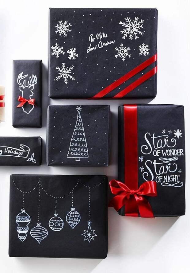 Новогодняя упаковка подарков (трафик)