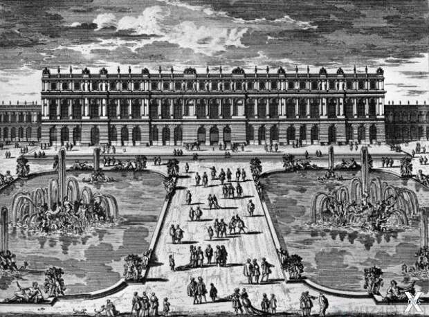 Сад перед дворцом Версаль (примерно 1...