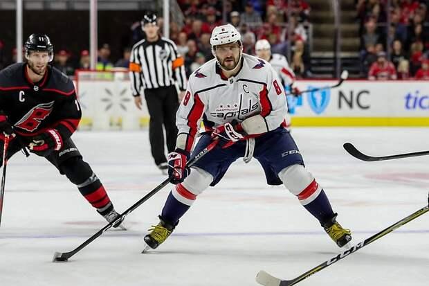 Овечкин стал третьим левым нападающим по количеству очков за всю историю плей-офф НХЛ