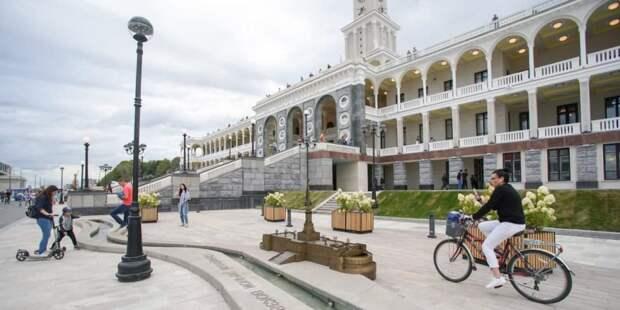 Собянин рассказал о планах благоустройства набережной Москвы-реки вдоль Ленинградского шоссе