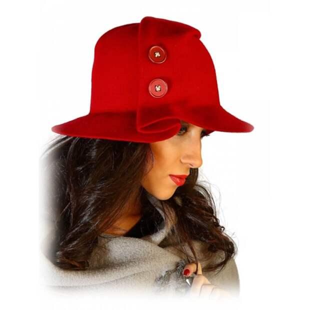Оригинальная фетровая шляпа