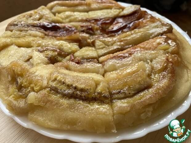 Банановый пирог на сковороде